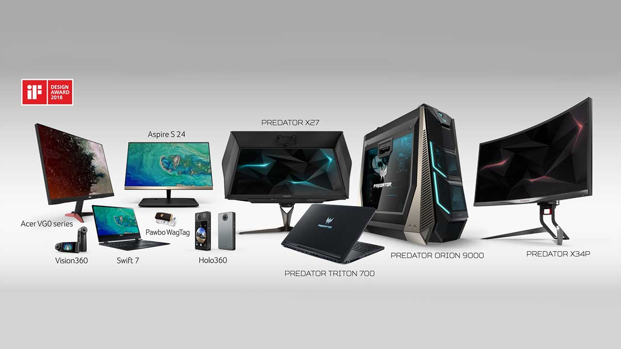 Acer si aggiudica 12 iF Design Awards 2018 thumbnail