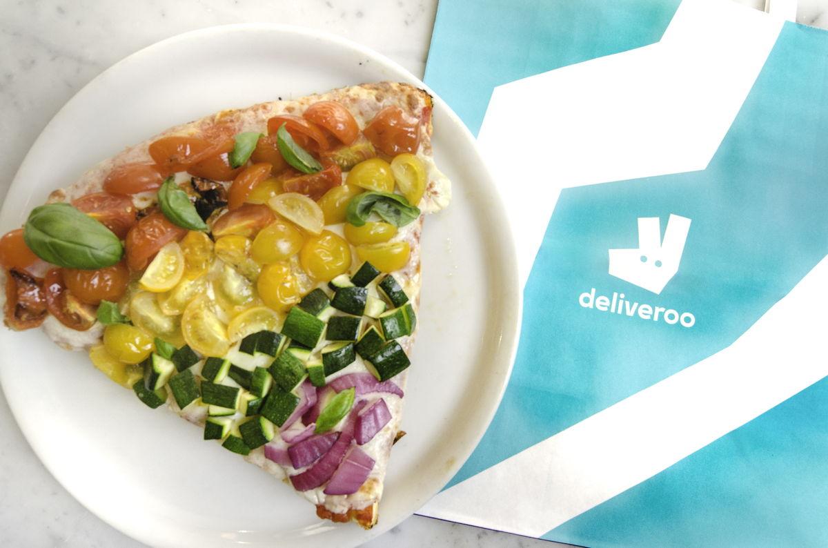 Deliveroo Rainbow Pizza