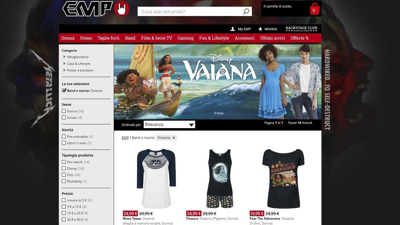 Arriva il merchandising del film Oceania thumbnail