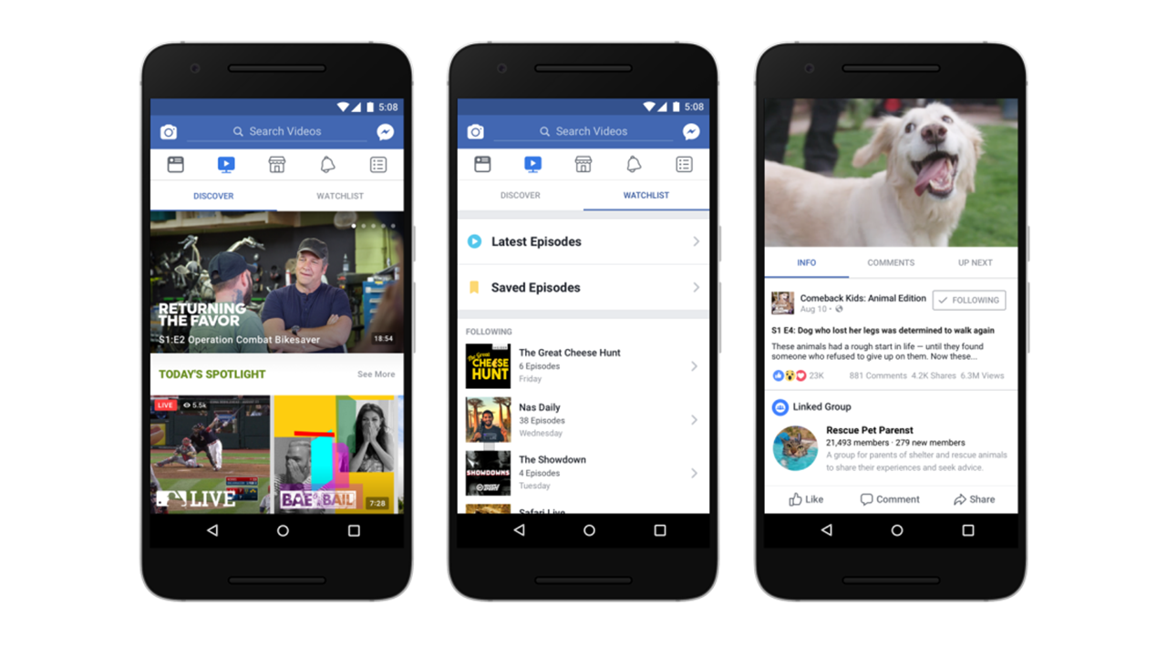 Facebook lancia Watch, un'alternativa alla TV tradizionale thumbnail