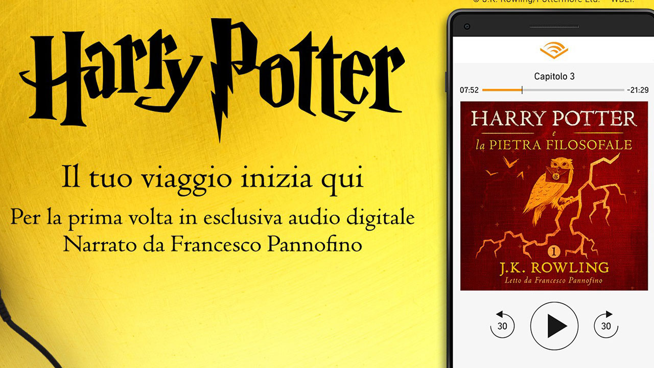 Francesco Pannofino vi racconta le avventure di Harry Potter su Audible thumbnail