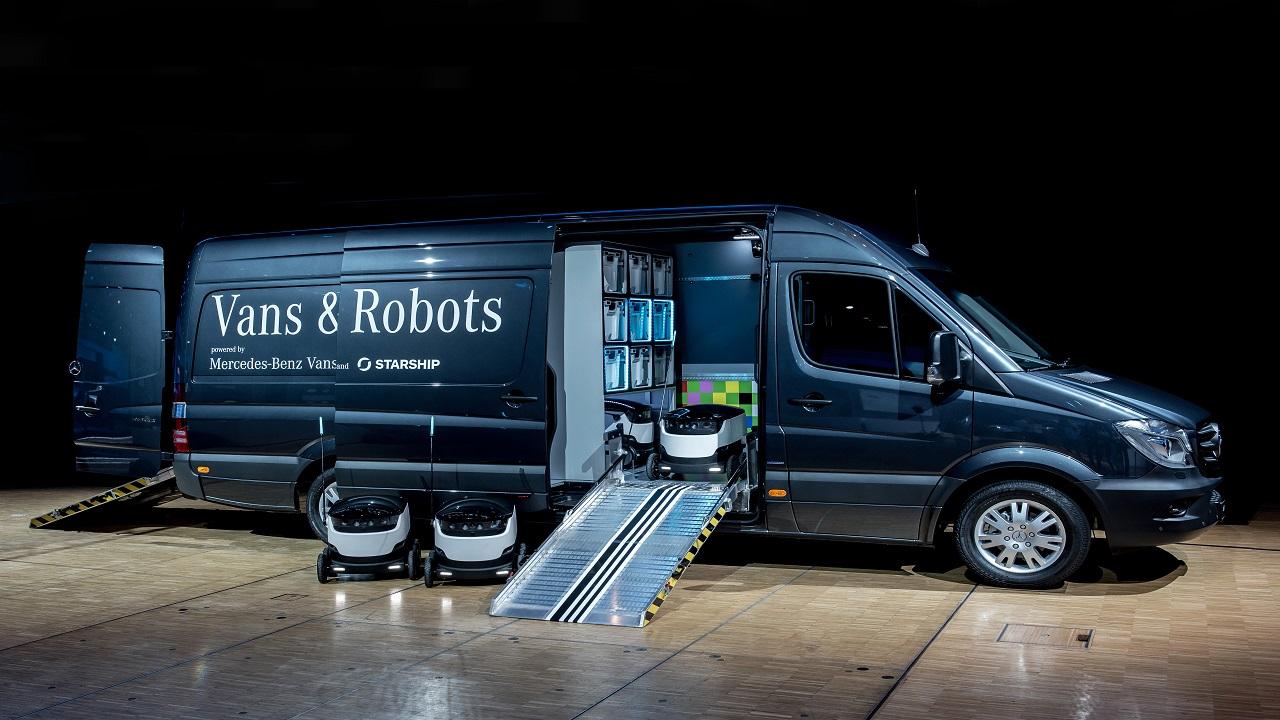 Mercedes-BenzVans investe in StarshipTechnologies,  produttore leader al mondo di robot per consegne a domicilio thumbnail