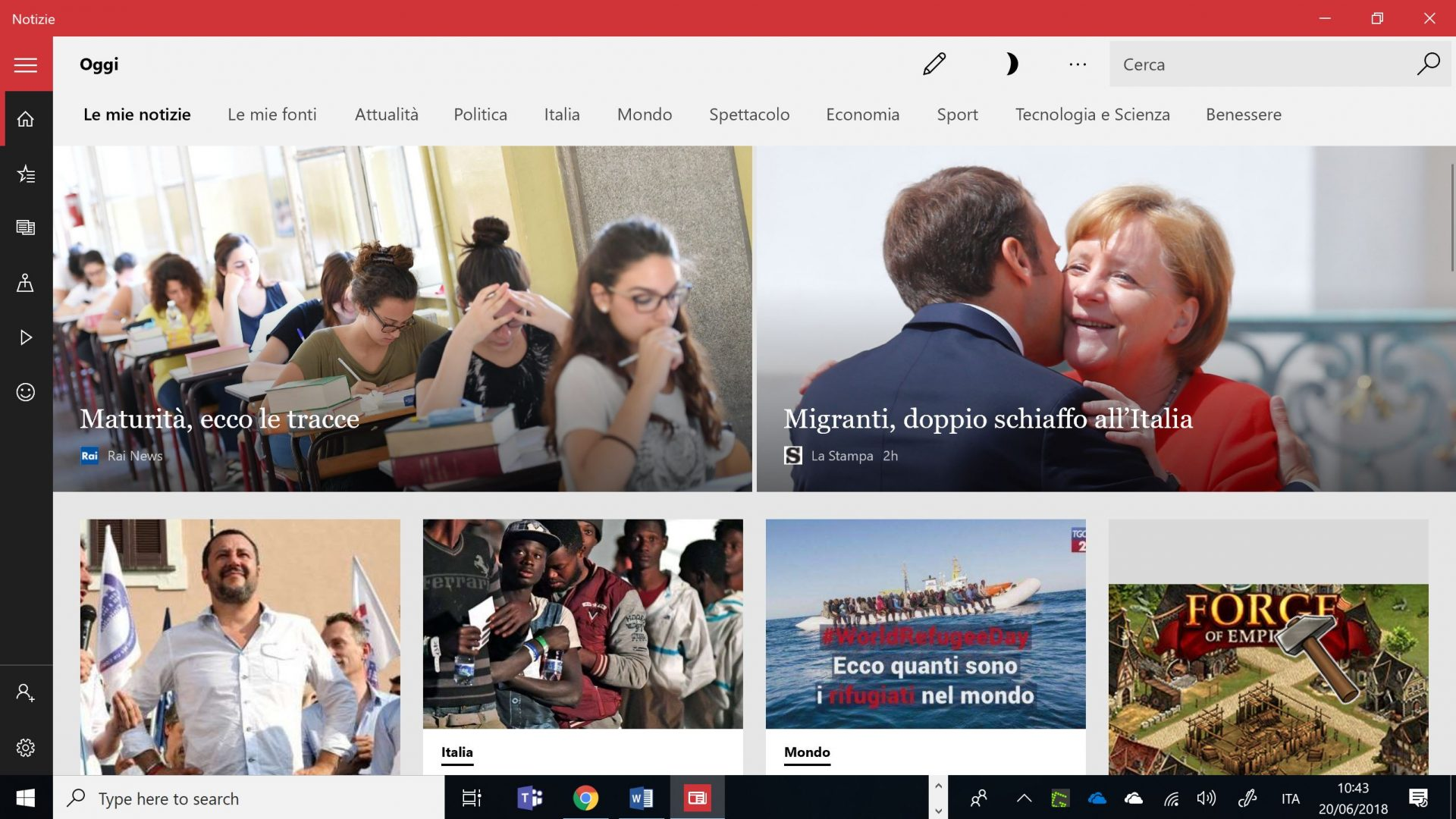 Microsoft News: il nuovo motore di ricerca di notizie per smartphone e PC thumbnail