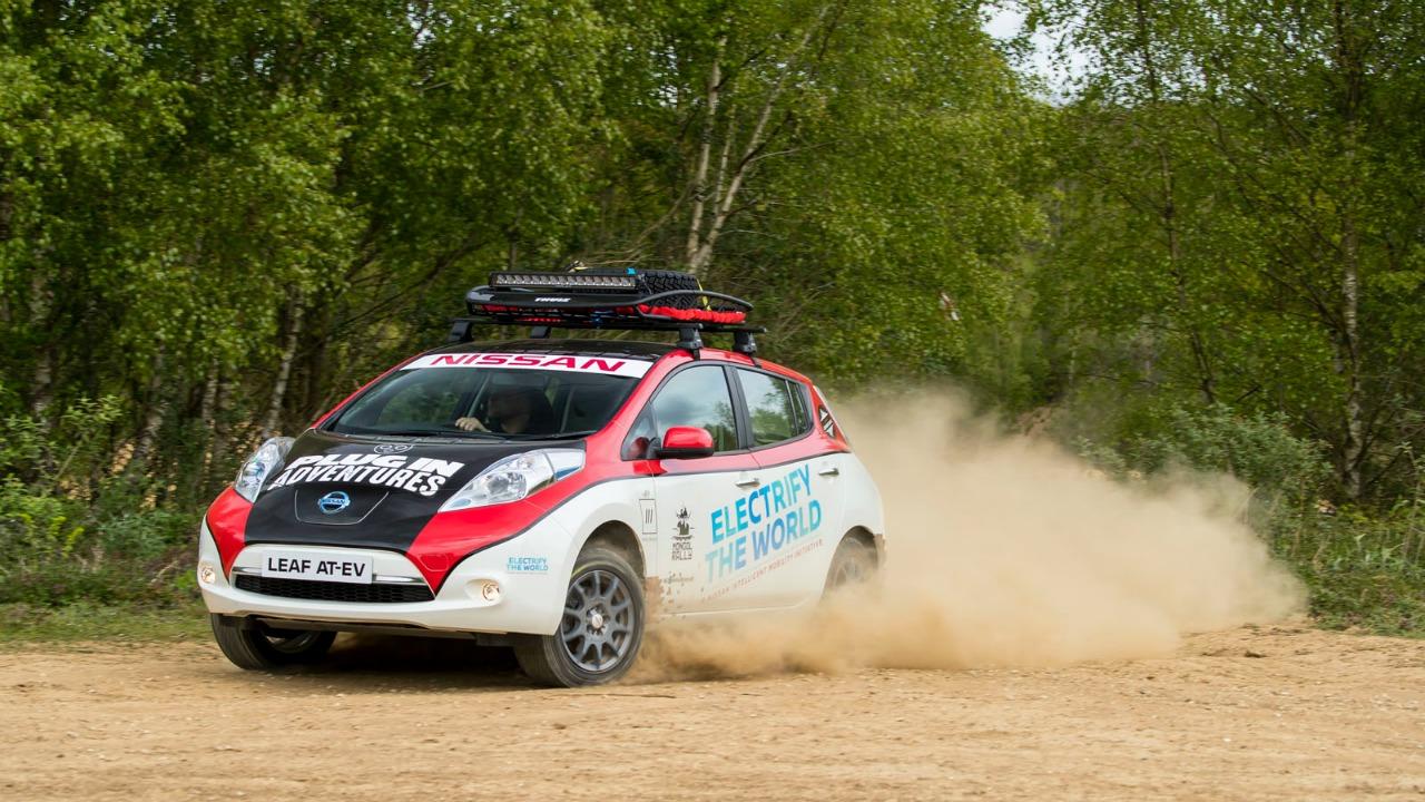 Ecco Nissan Leaf AT-EV, il primo veicolo totalmente elettrico che parteciperà al Mongol Rally thumbnail