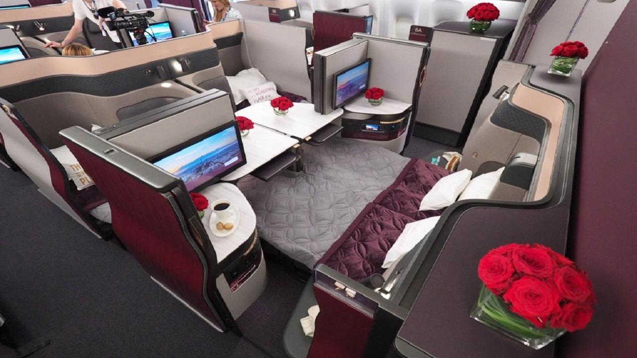 Qatar Airways lancia la nuova classe Qsuiten sulla tratta Doha- New York thumbnail