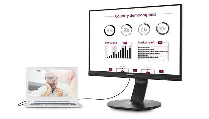Philips 241B7QUPEB B-line, il monitor con docking USB thumbnail