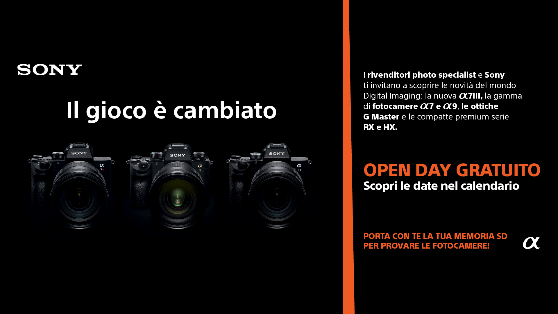 Sony Italia: sono tornati gli Open Day fotografici di Sony thumbnail