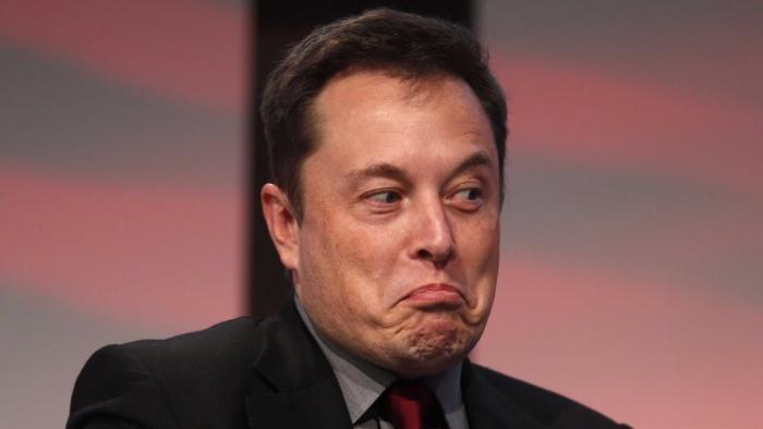 Elon Musk funny face
