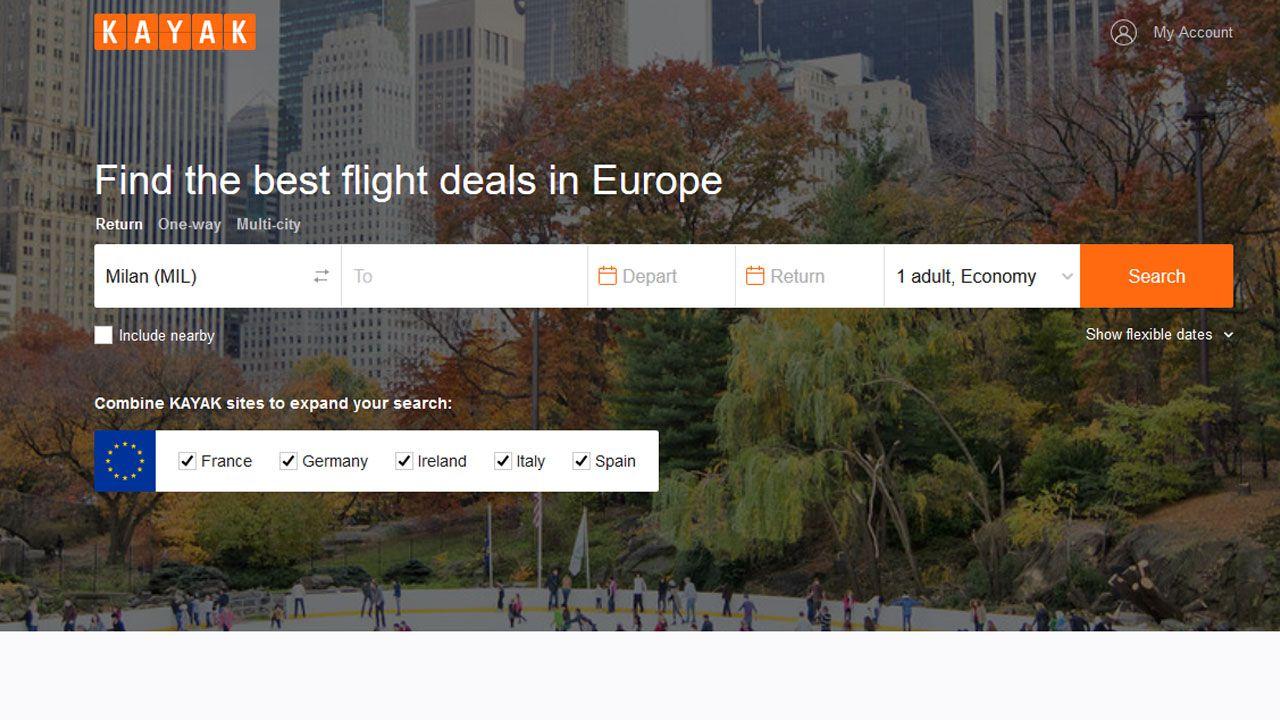 KAYAK.eu, nasce il sito che vi permette di scoprire le tariffe aeree proposte all'estero thumbnail