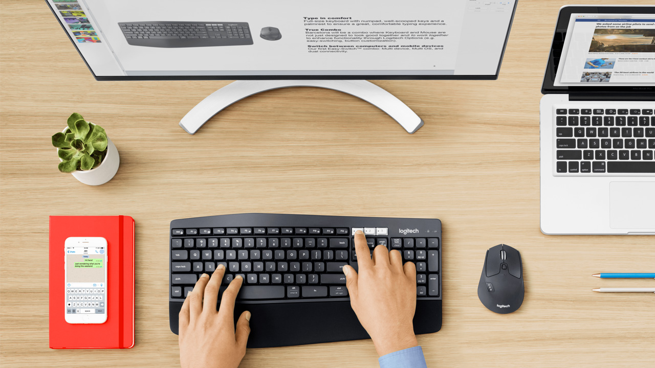 Logitech presenta MK850 Performance Wireless Keyboard e Mouse Combo thumbnail