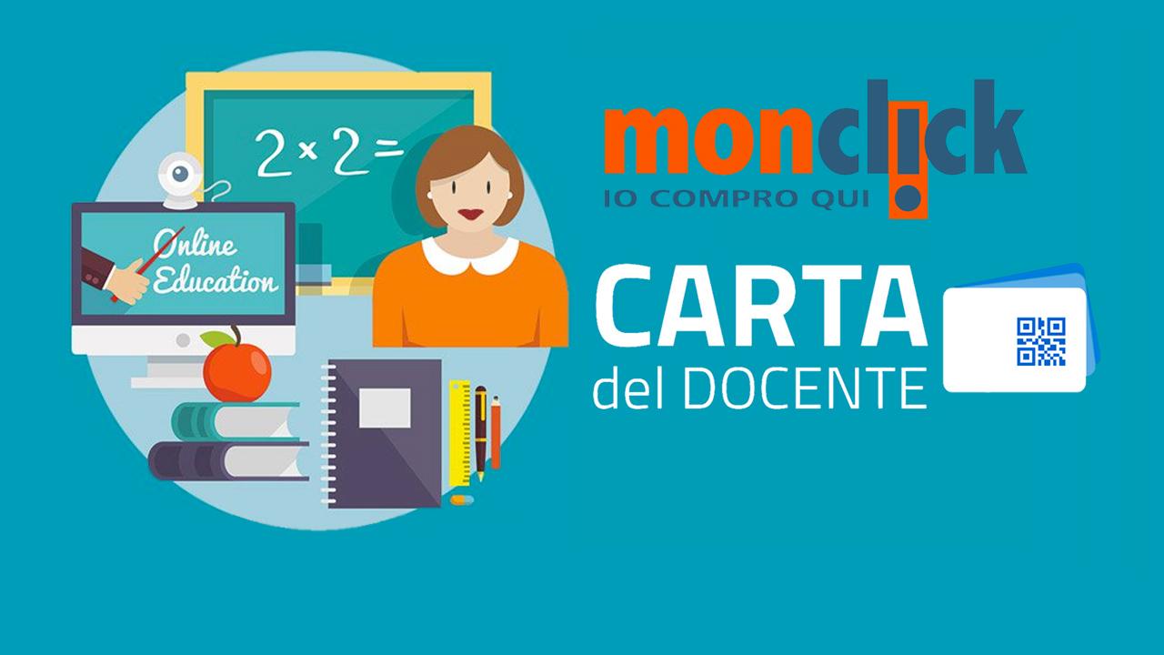 500 euro di buono spendibili su Monclick grazie alla Carta del Docente thumbnail