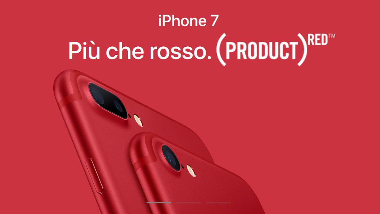 iPhone 7 e iPhone 7 Plus si tingono di rosso thumbnail