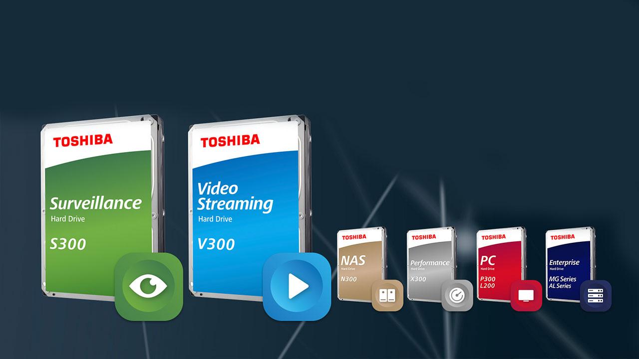 Toshiba presenta i nuovi hard disk interni S300 e V300 thumbnail