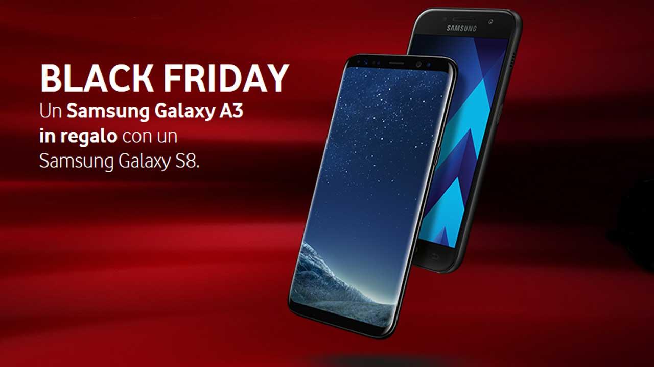 Vodafone celebra il Black Friday regalando un Samsung Galaxy A3 2017 thumbnail