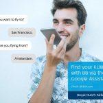 klm blue bot google assistant