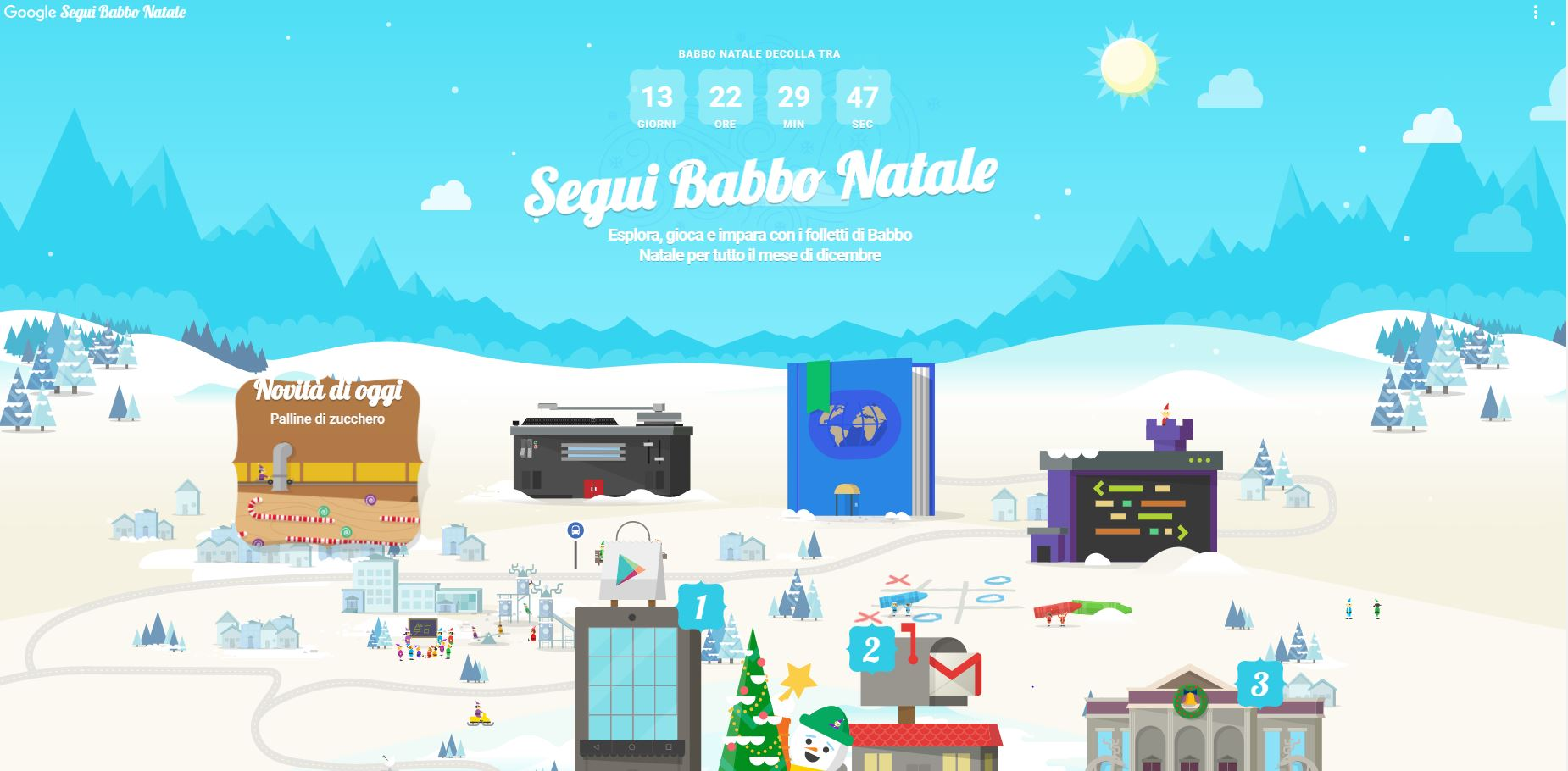 Google Segui Babbo Natale: il calendario dell'avvento tecnologico per i vostri bambini thumbnail