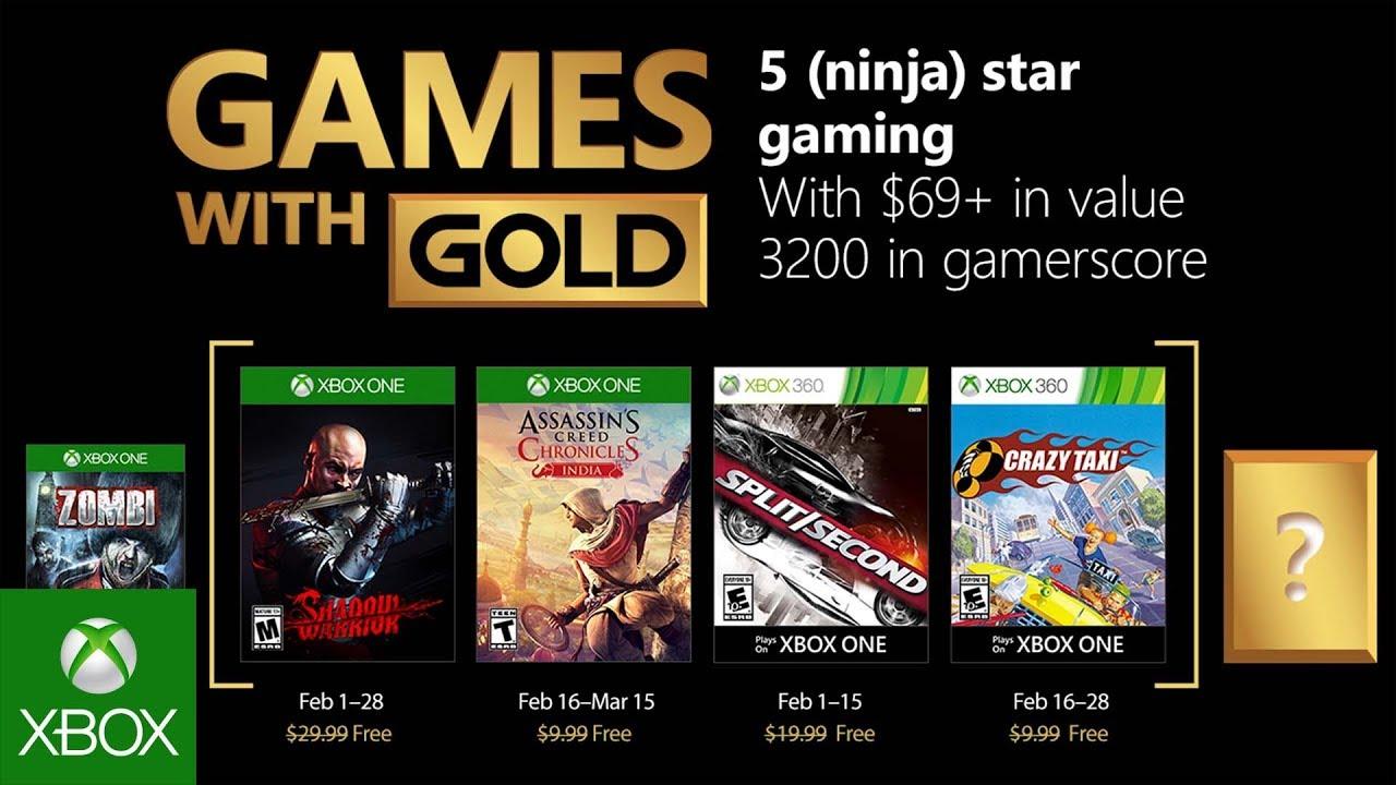 Games with Gold: i giochi di febbraio 2018 thumbnail