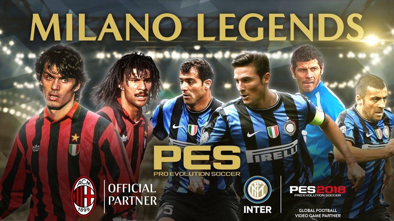 PES 2018: arrivano le Leggende di Milan e Inter thumbnail