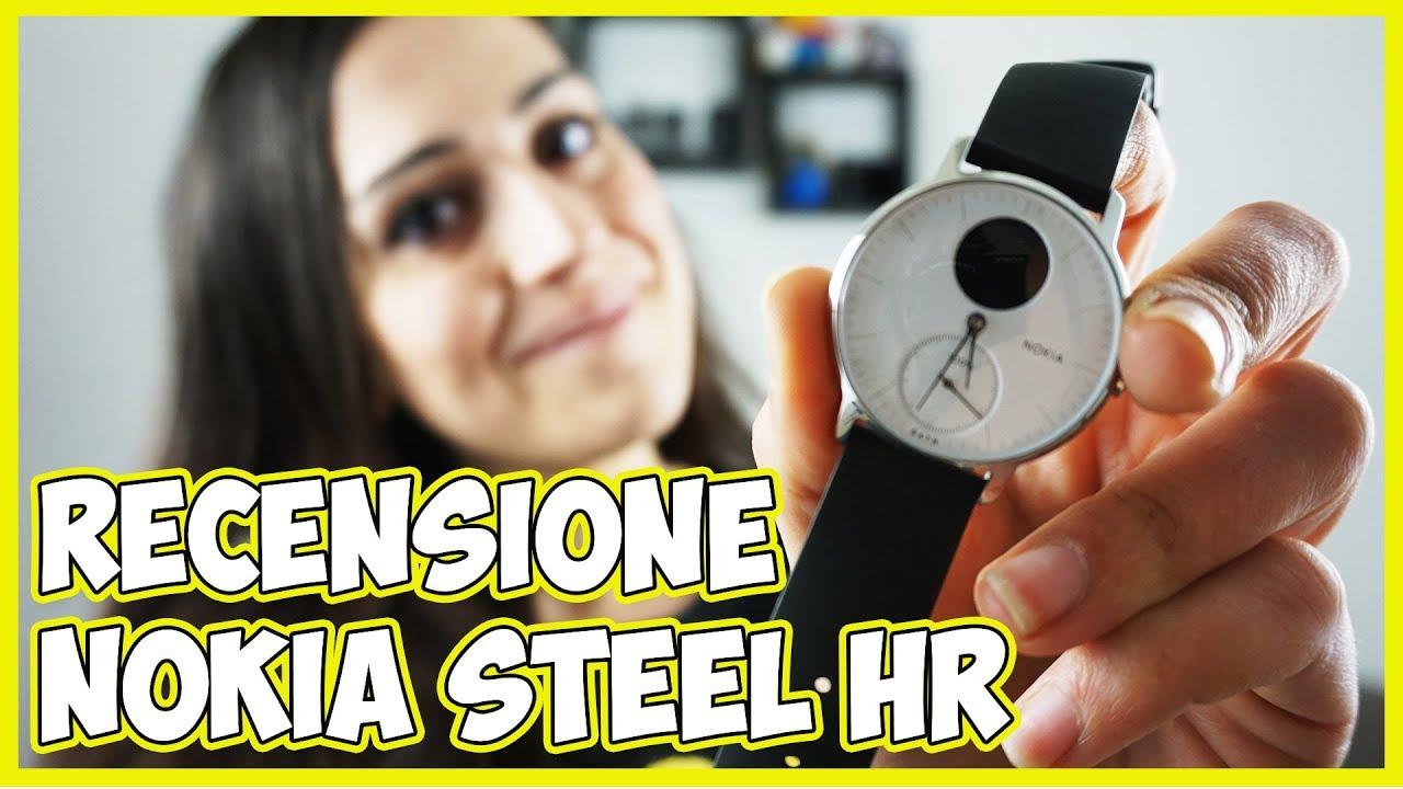 Recensione Nokia Steel HR, lo smartwatch ibrido super elegante thumbnail