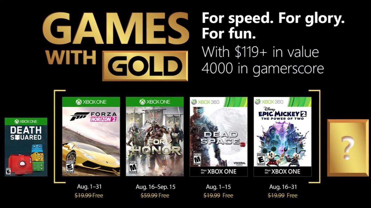 Games with Gold: agosto 2018, i giochi scaricabili da oggi su Xbox thumbnail