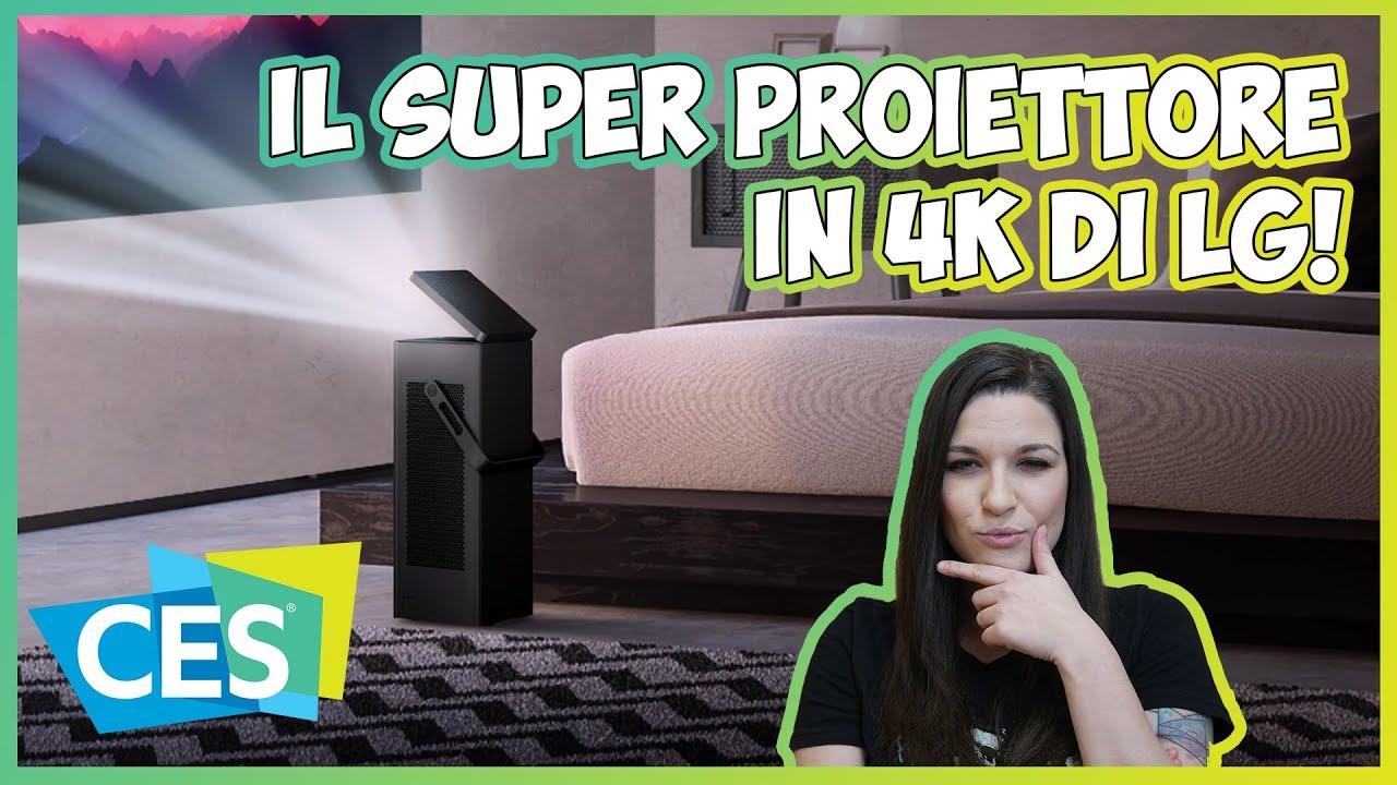 LG HU80KA: un super proiettore 4K HDR da 150 pollici | CES 2018 thumbnail