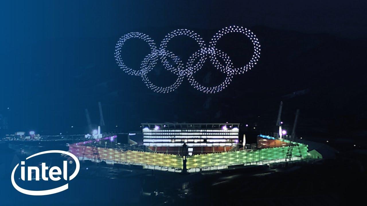 Intel celebra le Olimpiadi invernali con il volo di oltre 1200 droni thumbnail
