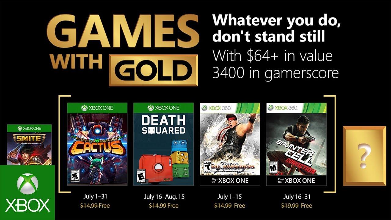Games with Gold, luglio 2018: i giochi gratuiti per Xbox One e Xbox 360 thumbnail