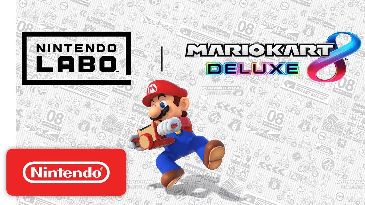 Mario Kart 8 Deluxe, arriva la compatibilità con i Toy-Con di Nintendo Labo thumbnail