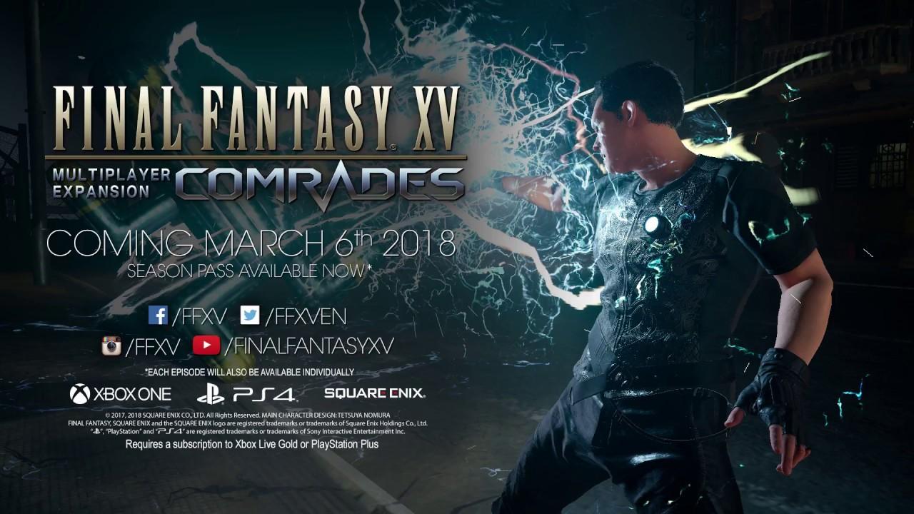 Final Fantasy XV: nuovi contenuti per Comrades con il lancio su PC thumbnail