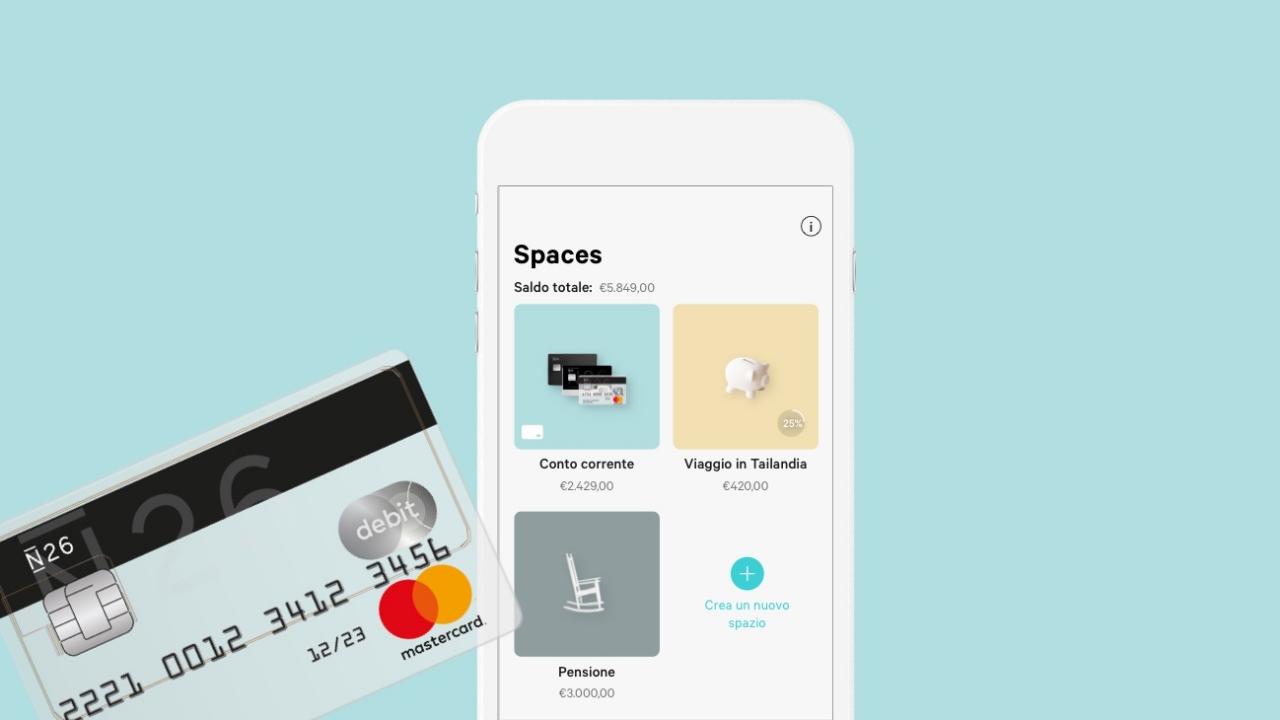 n26 spaces app mobile bank