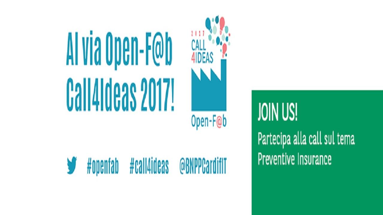 Al via alla quarta edizione di Open-F@b Call4Ideas, il contest che premierà le idee più innovative sul tema della Preventive Insurance thumbnail