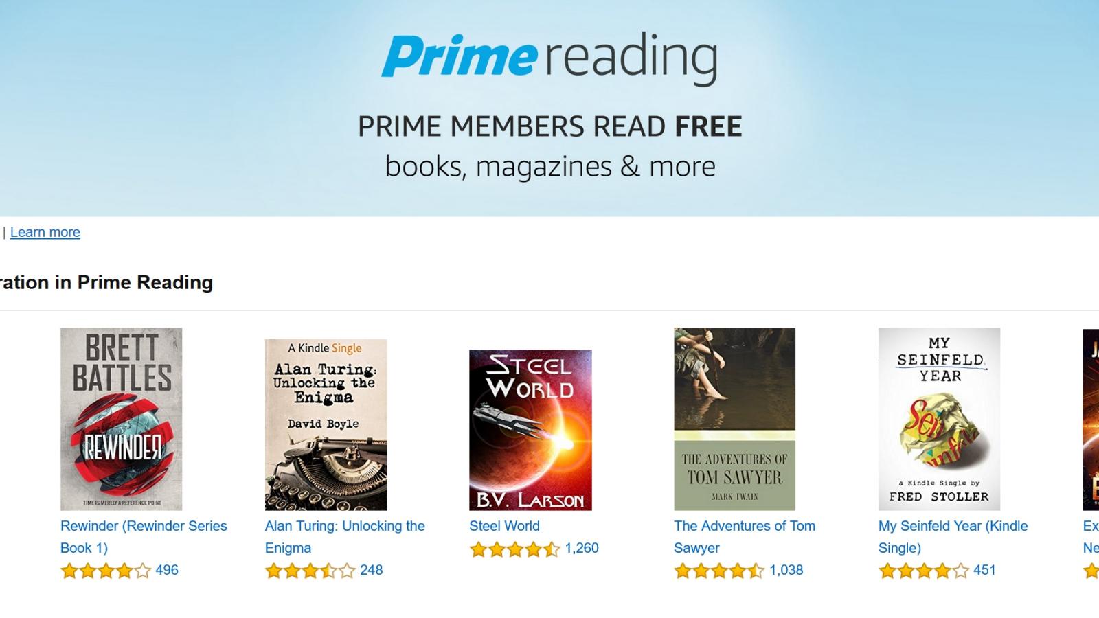 Amazon annuncia Prime Reading, un nuovo bonus per i clienti Prime thumbnail
