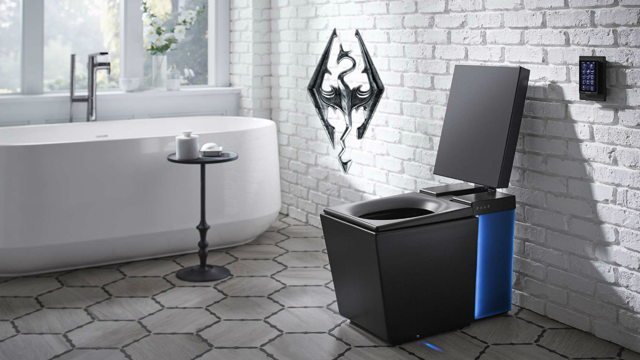 skyrim smart toilet wc gabinetto