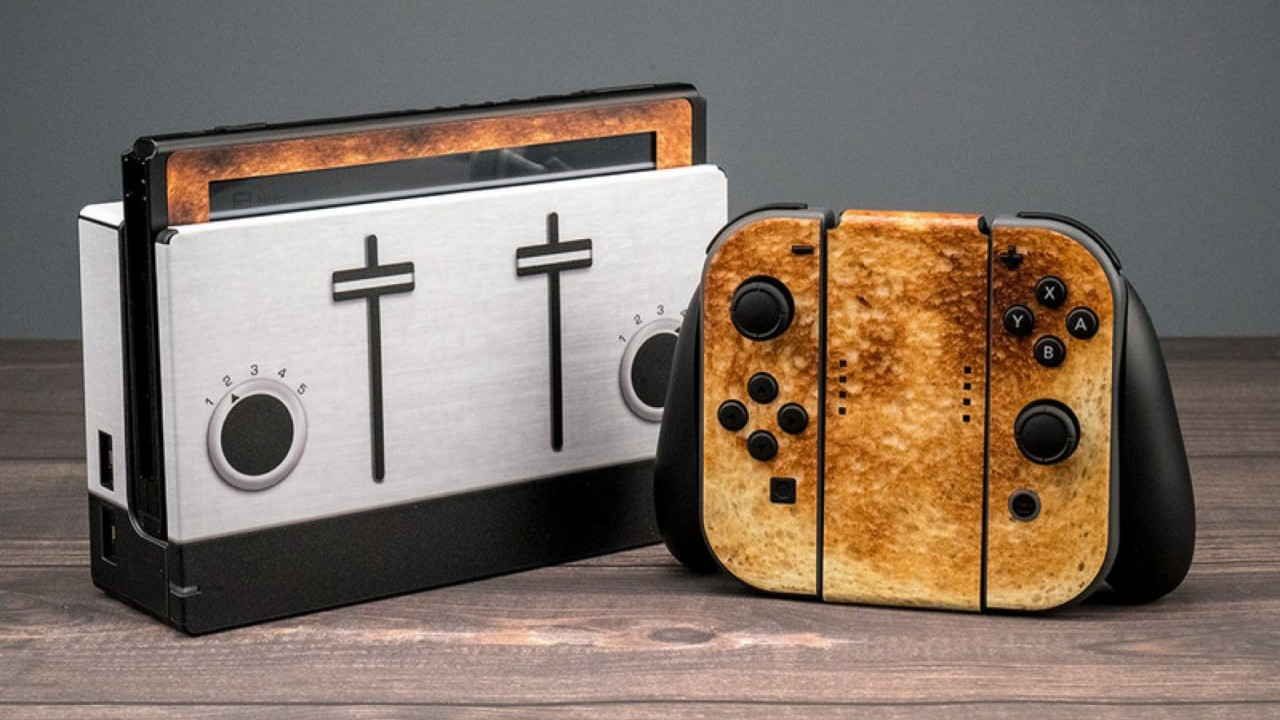 nintendo switch toastendo toast skin decal
