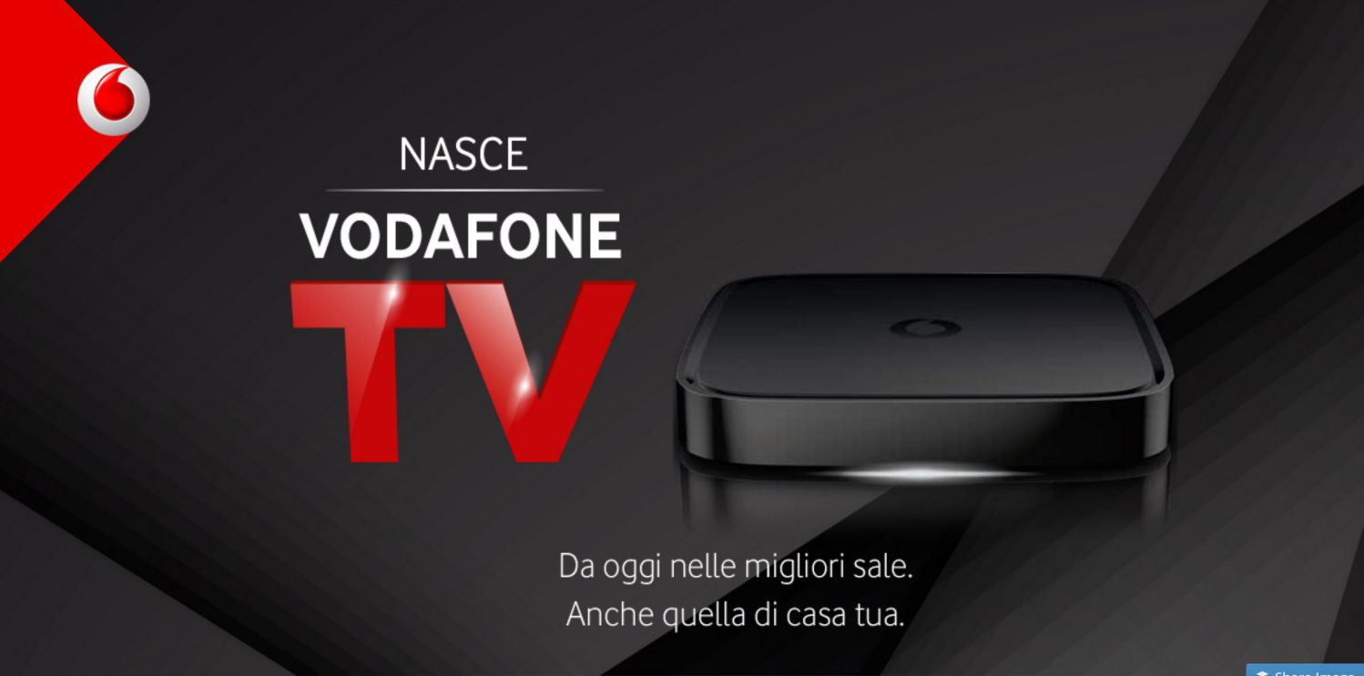 vodafone tv via internet di vodafone