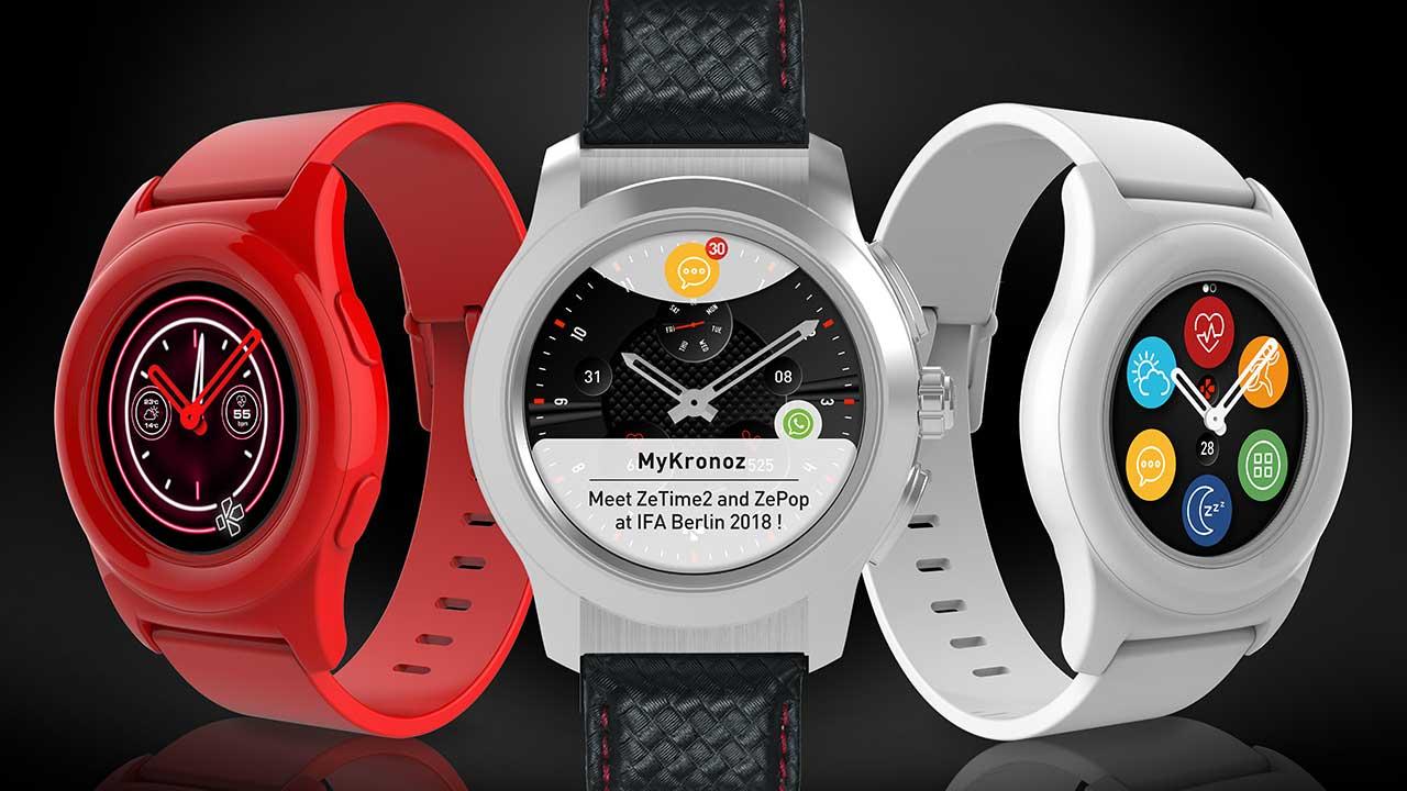 ZeTime2 e ZePop: caratteristiche e prezzi dei due nuovi smartwatch di MyKronoz | IFA 2018 thumbnail