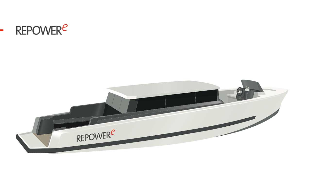 RepowerE, la barca full electric, sarà al Salone Nautico di Genova thumbnail