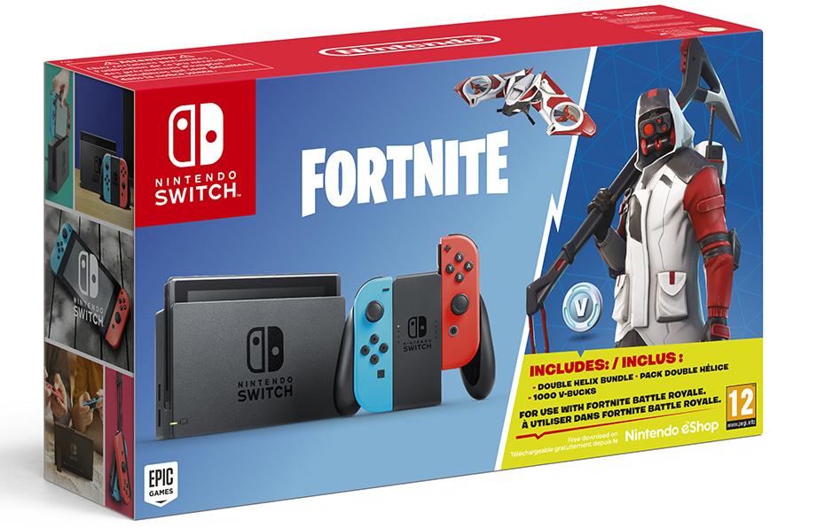 scatola del bundle fortnite nintendo switch
