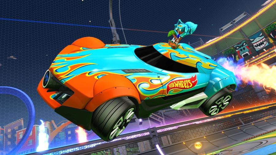 rocket league hot wheels triple threat dlc