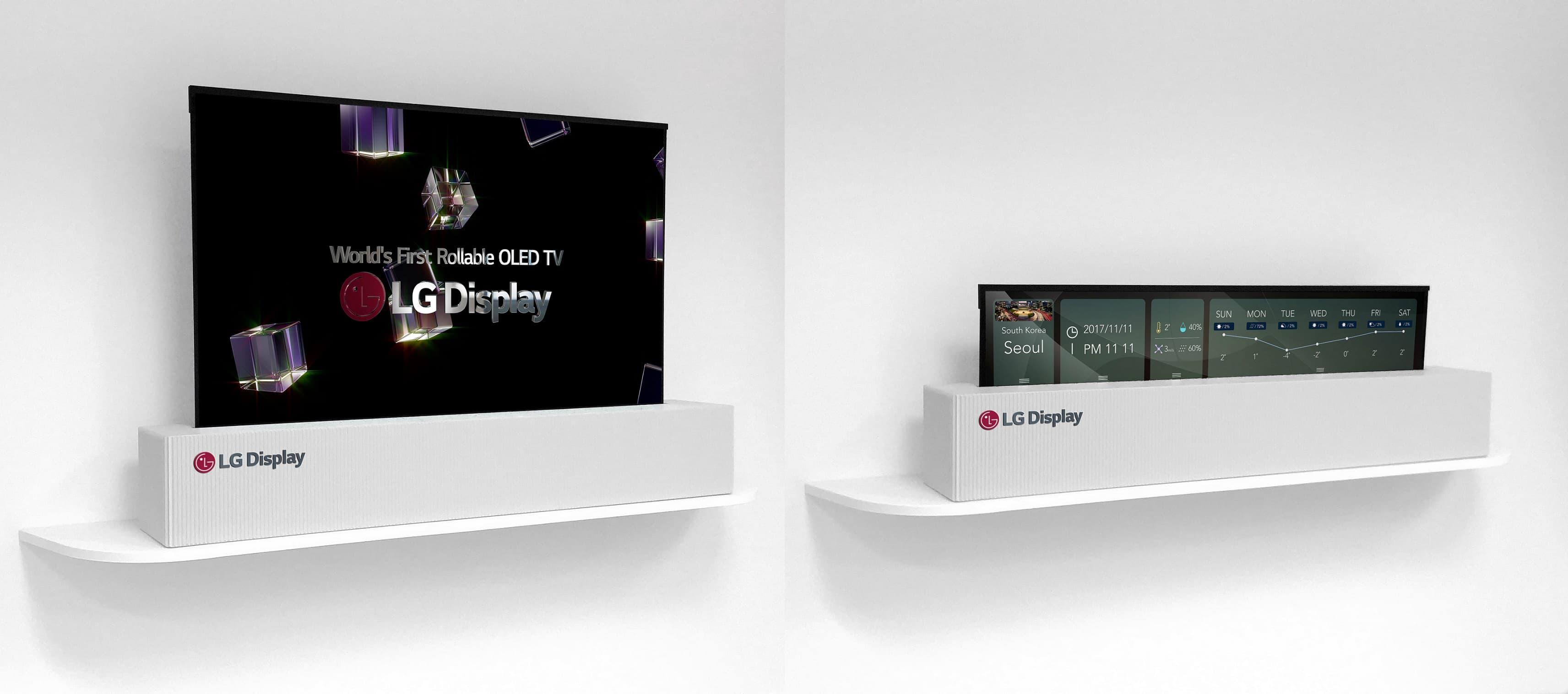 La TV srotolabile di LG potrebbe arrivare sul mercato nel 2019 thumbnail
