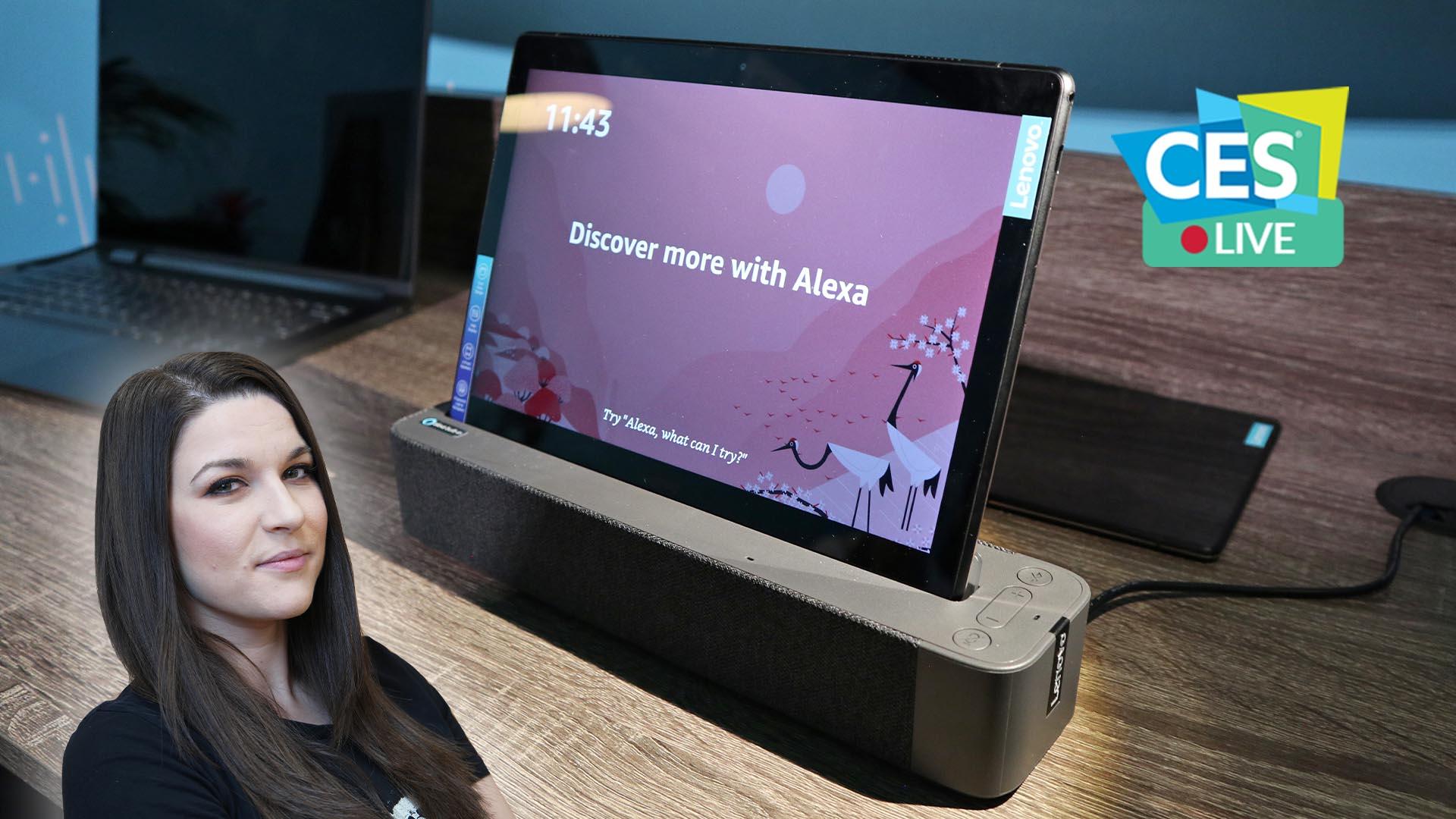 Questo smart speaker di Lenovo ha uno schermo staccabile e Amazon Alexa  | CES 2019 thumbnail
