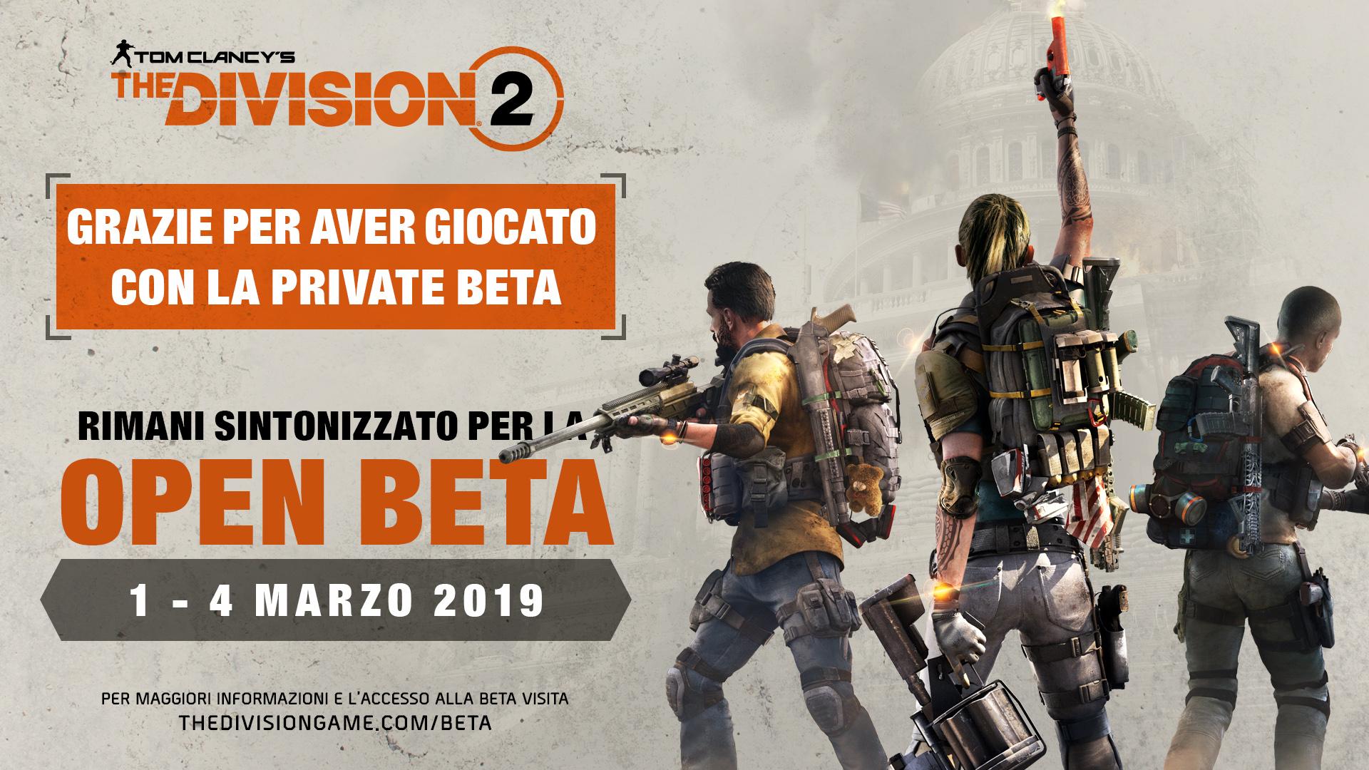 Tom Clancy's The Division 2: la Open Beta avrà inizio l'1 marzo thumbnail