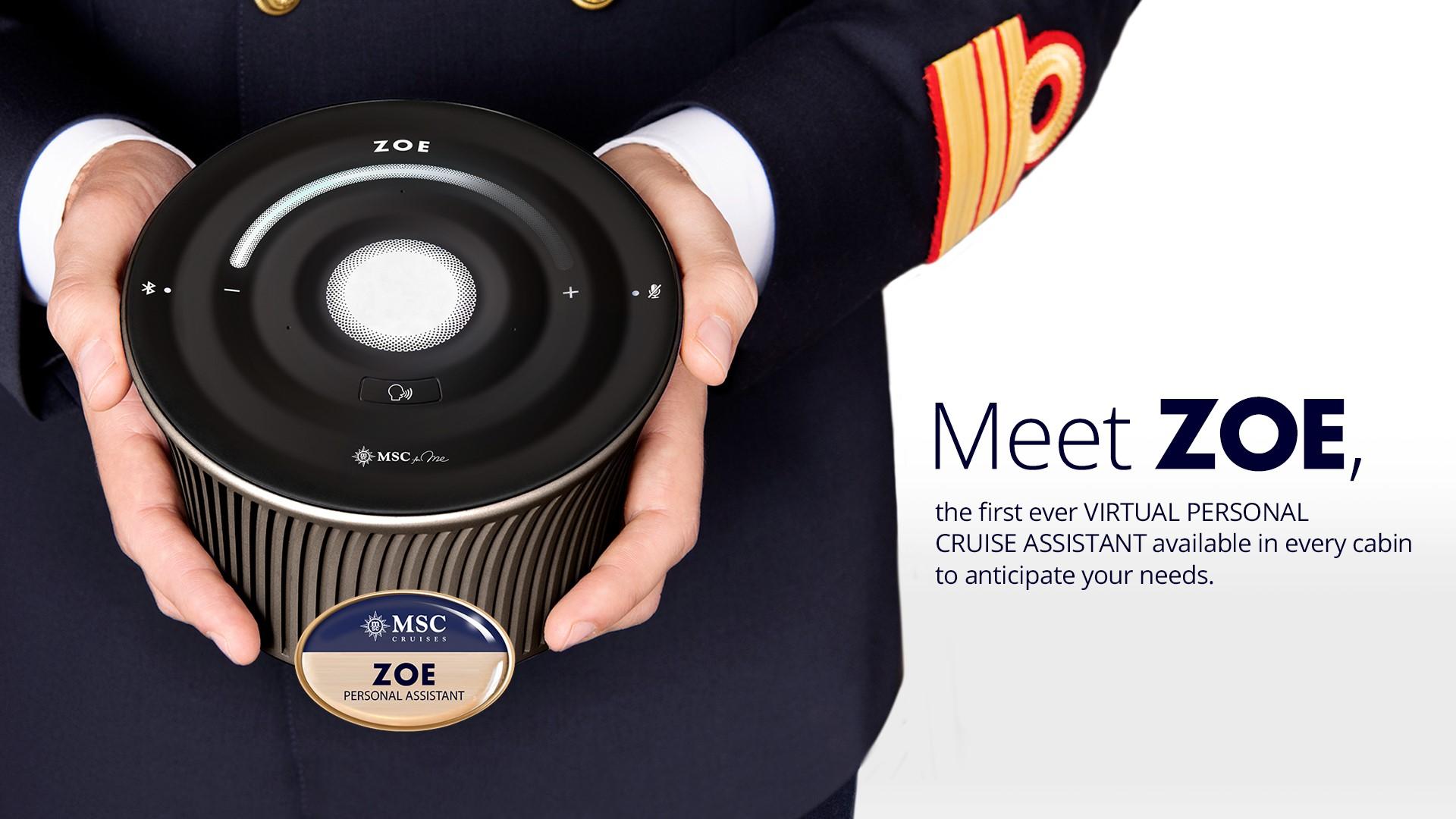 MSC: a bordo arriva ZOE, la prima assistente virtuale per crociere thumbnail