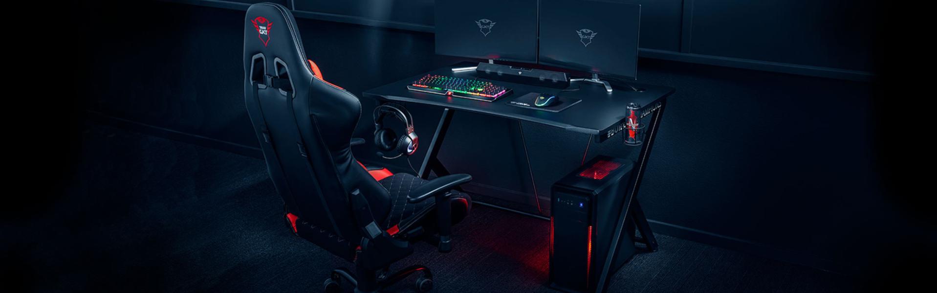 Trust Gaming: arriva la prima scrivania da gioco GXT711 Dominus thumbnail
