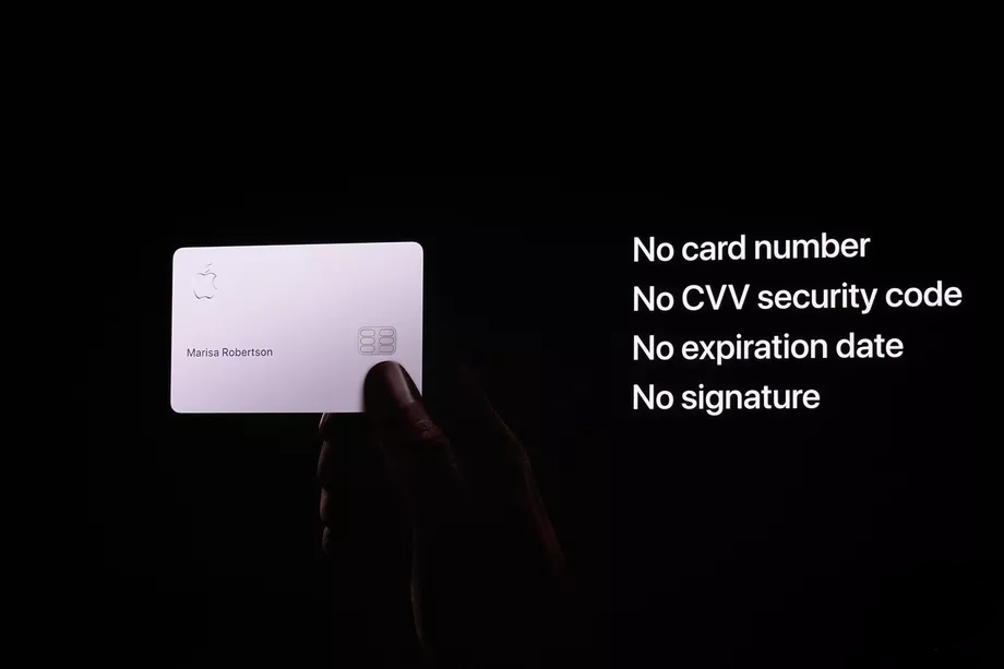 apple card titanium card