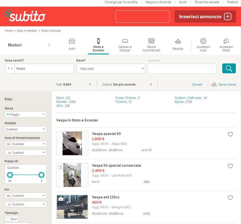 Vespa lo scooter più cercato online thumbnail