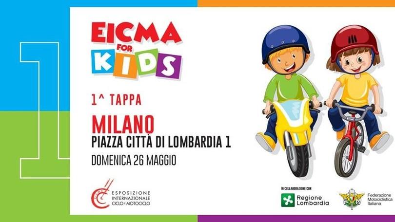 EICMA FOR KIDS: partito a Milano il progetto di educazione a due ruote thumbnail
