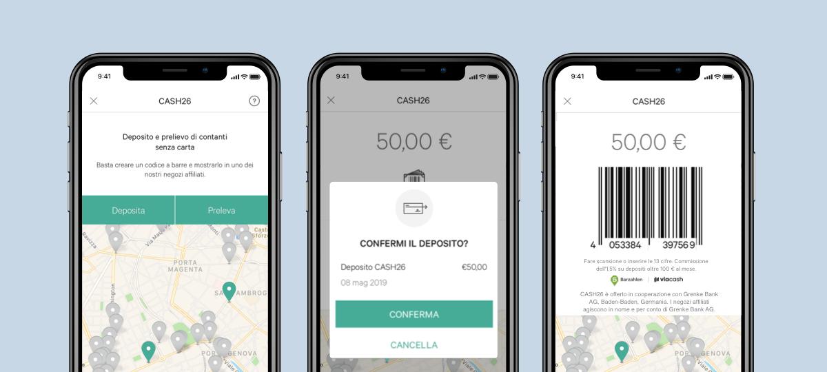 CASH26 arriva in Italia per il prelievo e deposito di contante thumbnail