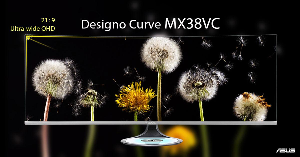 ASUS Designo Curve MX38VC: il nuovo monitor curvo da ben 37,5 pollici thumbnail