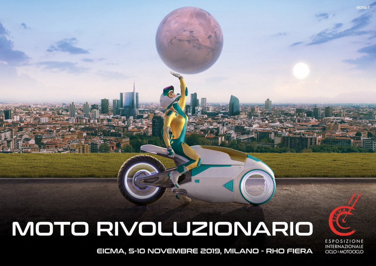 eicma 2019 moto rivoluzionario locandina poster rho fiera